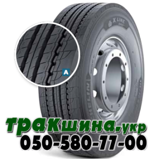 315/70 R22.5 Michelin X Line Energy Z 156/150L рулевая  Изображение шины