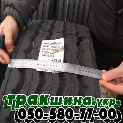 Фото ширины протектора шины 385/65 R22.5 Bridgestone R168+