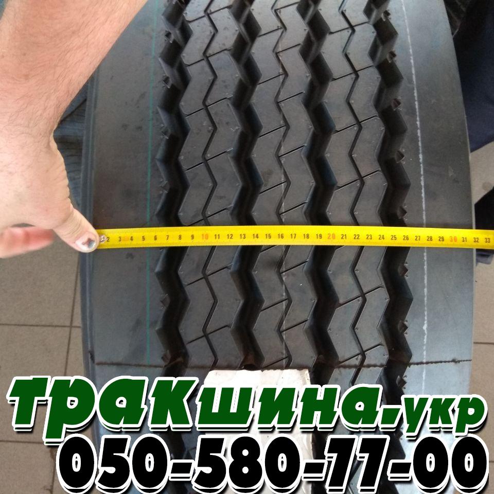 На фото показана ширина протектора шины 385/65R22.5 GTRadial GT978