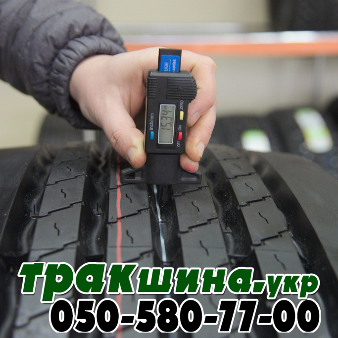 Глубина протектора шины Deestone SW413 385/65R22.5 164K (5000 кг, усиленная) 20PR