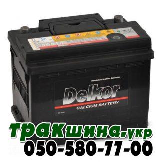 Аккумулятор Delkor 6СТ-60 низкий евро левый плюс