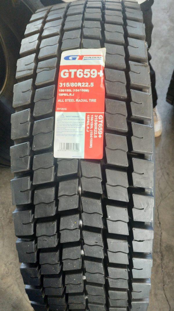 315/80 R22,5 GT Radial GT659+ (ведущая) 154/150M